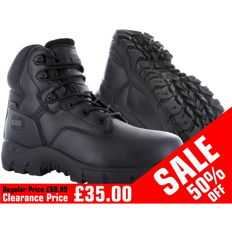 This is a durable, waterproof full-grain leather boot, fantastic for handling the rigours of tough workloads. Magnum Precision Sitemaster Composite Safety Boot conforms to: EN ISO 20345:2011 - S3 HRO WR SRC safety footwear standards.